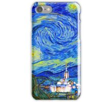 Starry Starry Night with Temple 20x30 iPhone Case/Skin