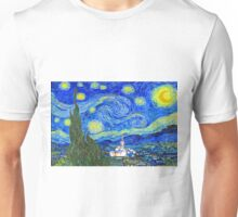Starry Starry Night with Temple 20x30 Unisex T-Shirt