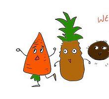 Fruit Villans by gardenofart