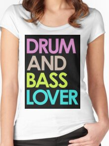 Drum & Bass Lover Women's Fitted Scoop T-Shirt