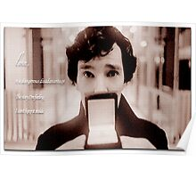 Sherlock—Love is a dangerous disadvantage Poster