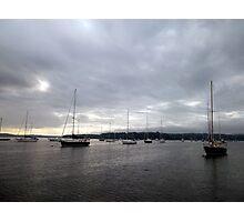 Fleet of Sail Boats Photographic Print