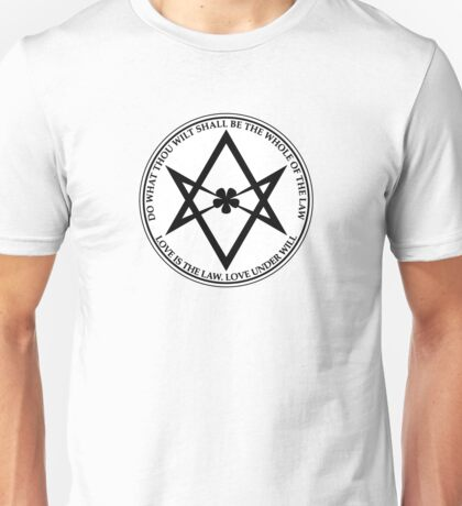 Aleister Crowley - DO WHAT THOU WILT SHALL BE THE WHOLE OF THE LAW - Occult - Thelema - ALT Version Unisex T-Shirt
