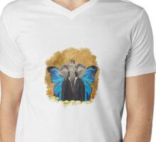 The Elephant King MAN! Mens V-Neck T-Shirt