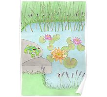 A Lazy Day By The Pond Poster