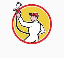 Painter Spray Paint Gun Side Circle Cartoon Unisex T-Shirt