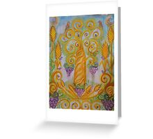 Golden Harvest Tree Greeting Card