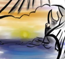 Toothless Sunset Sticker