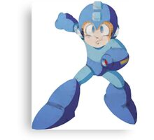 Mega Man 3 - Polygon Mega Man Canvas Print