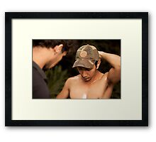 Andre Military Training (behind the scenes) Framed Print