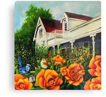 The rose gardens. Franklin Tasmania Metal Print