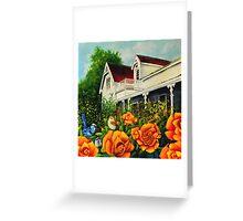 The rose gardens. Franklin Tasmania Greeting Card