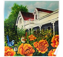 The rose gardens. Franklin Tasmania Poster