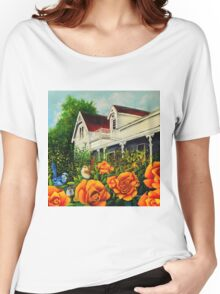 The rose gardens. Franklin Tasmania Women's Relaxed Fit T-Shirt