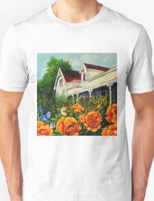 The rose gardens. Franklin Tasmania Unisex T-Shirt