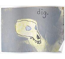 strange animal skull diagram Poster