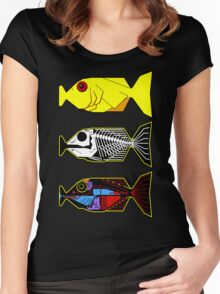 The Hitchhikers Guide to the Galaxy - 3 Babel Fish Women's Fitted Scoop T-Shirt