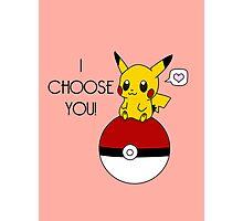 Pokemon Pikachu Valentine's Day Design! (Pink) Photographic Print