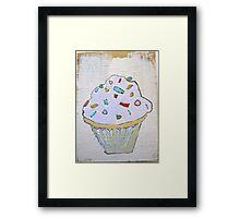 pink purple lavender cupcake! Framed Print