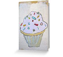 pink purple lavender cupcake! Greeting Card