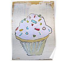 pink purple lavender cupcake! Poster