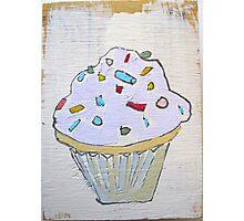 pink purple lavender cupcake! Photographic Print
