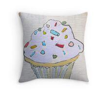 pink purple lavender cupcake! Throw Pillow