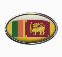 Sri Lanka Flag in Glass Oval by Ovals
