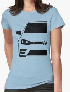 VW MK7 R Black Womens Fitted T-Shirt