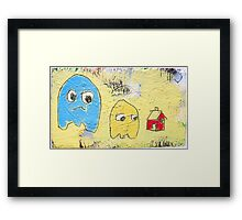 no ghosts in this house! Framed Print