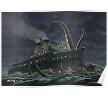 Attack Of Giant Squid Poster