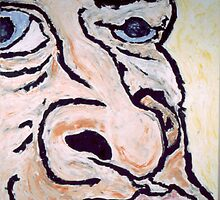 self portrait blue eye by kolazinski