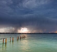 Summer Storm - Cleveland Qld Australia by Beth  Wode