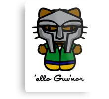 MF DOOM KITTY Metal Print