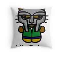 MF DOOM KITTY Throw Pillow