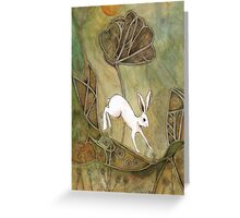 Hare with Standing Stones Greeting Card