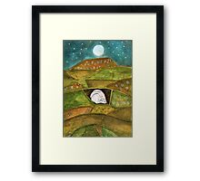 Hare at Pendle Hill Framed Print