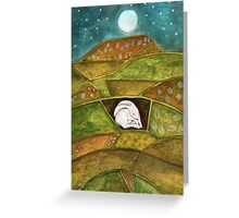 Hare at Pendle Hill Greeting Card