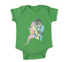 Commander Rainbow Dash and Private Fluttershy One Piece - Short Sleeve