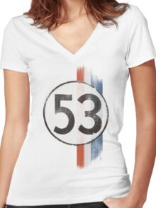 The Number Of The Bug Women's Fitted V-Neck T-Shirt
