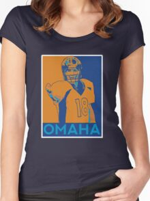 Peyton manning Omaha Hope Poster Women's Fitted Scoop T-Shirt