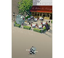Mr. Elephant & Mr. Mouse Bistro Photographic Print