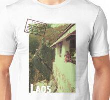 Passport Postcard - Pensive Monk, Laos Unisex T-Shirt
