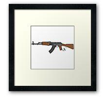Ak 47 Coloured Framed Print