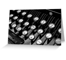 Old Teleprinter Keys Greeting Card