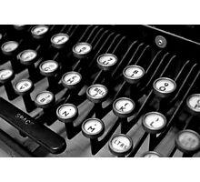 Old Teleprinter Keys Photographic Print
