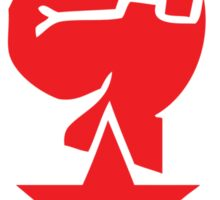 Socialist Raised Fist and Red Star Stickers Sticker