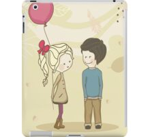 Boy and gril iPad Case/Skin
