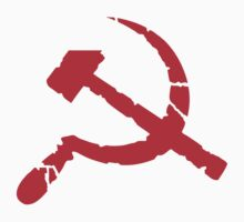 Weathered Communist Hammer and Sickle Symbol Sticker by NeoFaction