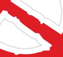 Weathered Communist Hammer and Sickle Symbol Sticker Sticker